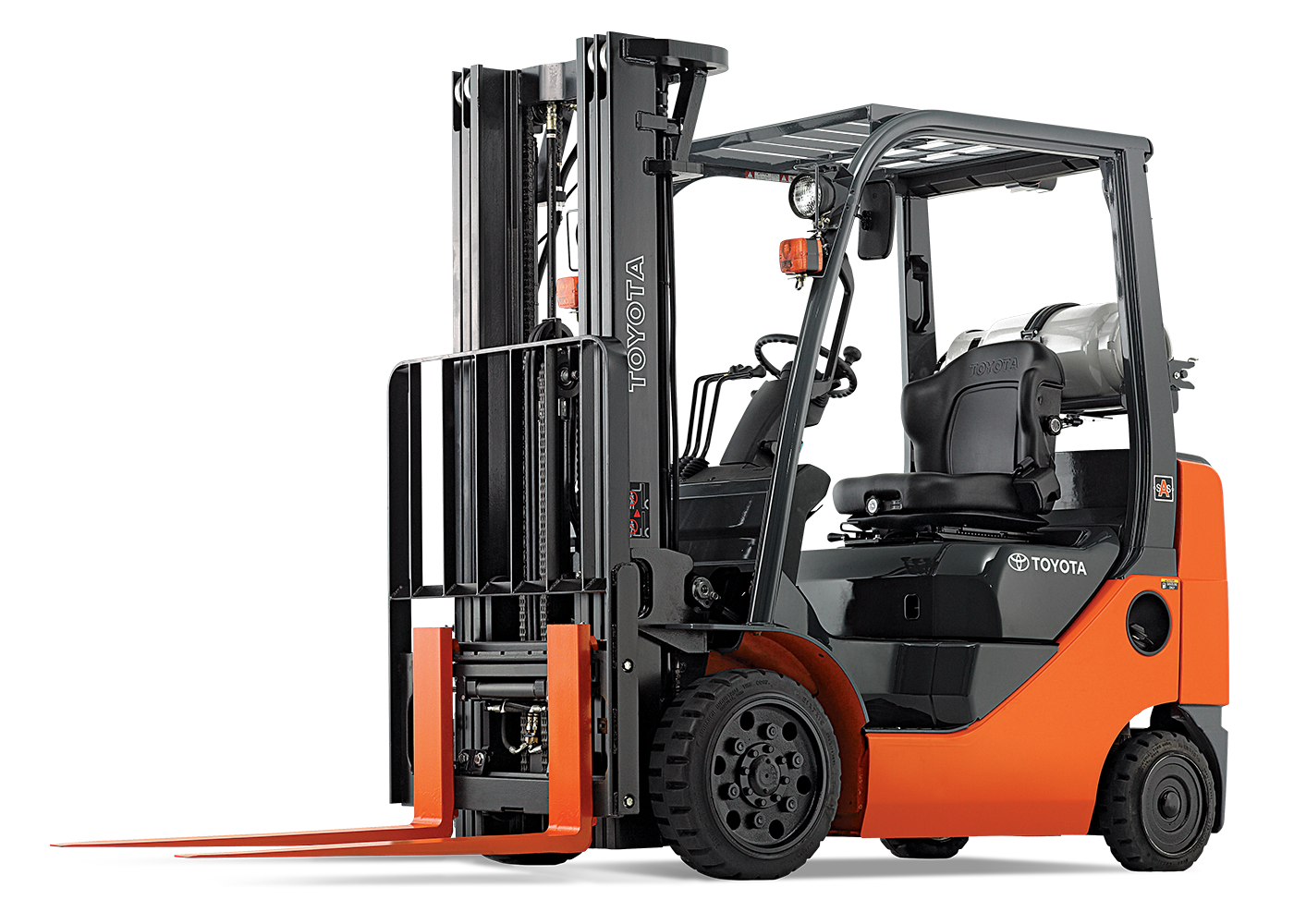 Orange Forklift Truck